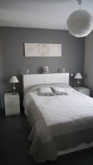 chambre grise et blanche déco chambre grise et blanc