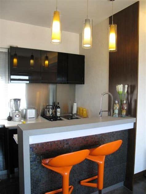 Small Kitchen With Island Ideas - barras de cocina de diseño moderno 50 ideas