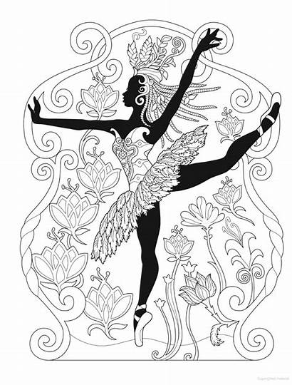 Coloring Pages African Dover Creative Publications Glamour