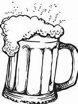 Beer Coloring Mug Printable Colouring Drawing Craft Drawings Local Printablecolouringpages sketch template