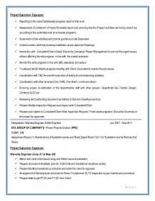 construction engineer resume description substation project construction electrical engineer resume