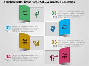 Four Staged Bar Graph Target Achievement Idea Generation