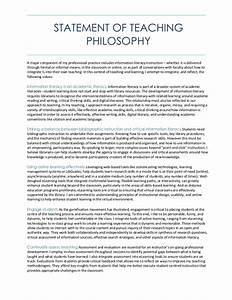 Statement Of Teaching Philosophy