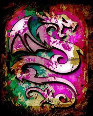 Abstract Dragon Art