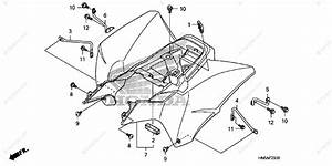 Honda Atv 2011 Oem Parts Diagram For Rear Fender