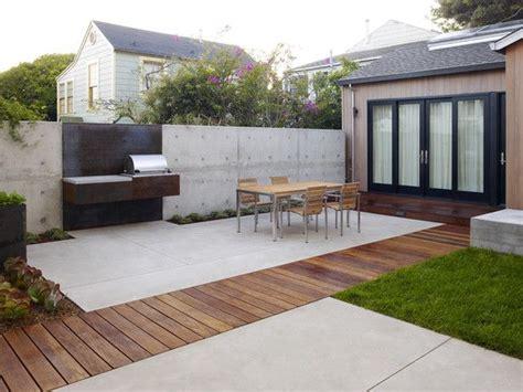 idee 235 n overdekt terras beton en hout outdoor living