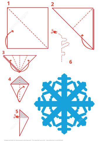 snowflake folding instructions  printable papercraft