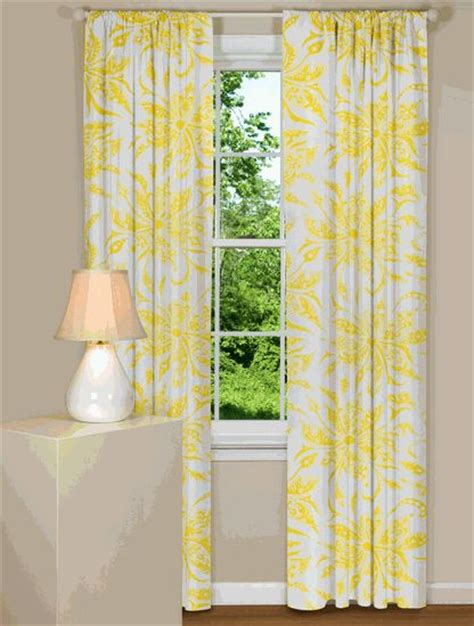 yellow and white curtains home decor