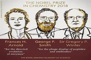 Nobel Prize 2018 for Chemistry goes to Frances Arnold ...