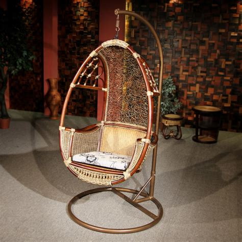 hanging wicker chair for indoor and outdoor sitting