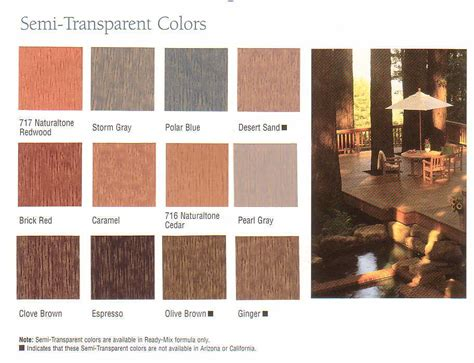 Olympic Deck Stain Colors by Olympic Semi Transparent Colors Spray And Stain