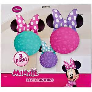 minnie mouse bow tique paper lantern decoration 3 count