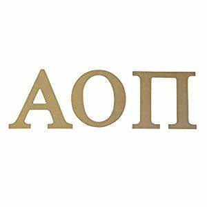 amazoncom alpha omicron pi aoii 75quot unfinished wood With alpha omicron pi letters