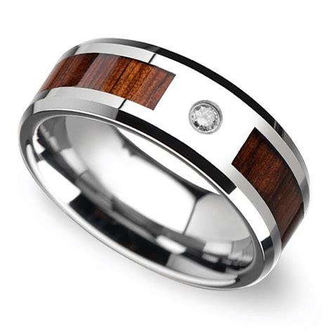 trend alert mens wedding bands  wood inlays