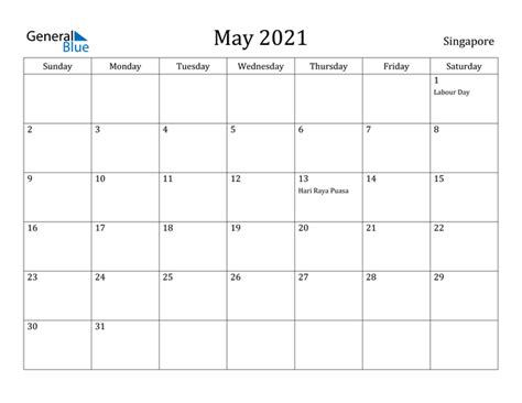 calendar singapore