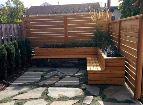 Wall Planter Box by Treated And Stained Wood Seat Wall With Planter Box Arw