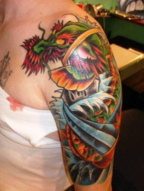 colorful dragon tattoo  arm