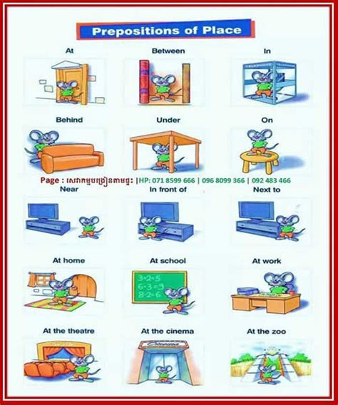 Prepositions Of Place  Visual Learning Method  English Learn Site