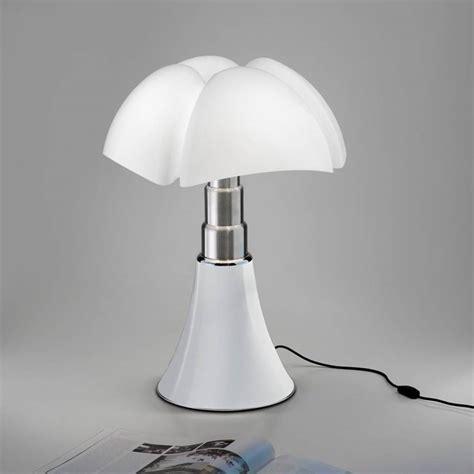 pipistrello medium lampe dimmer led pied telescopique  cm blanc martinelli lucegae aulenti