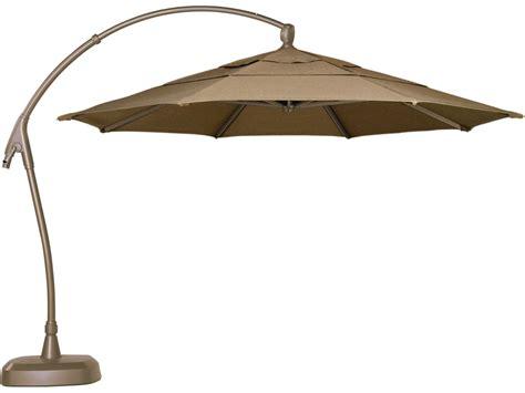 Garden Treasures Patio Umbrella Base by Treasure Garden Cantilever Aluminum 11 Crank Lift And