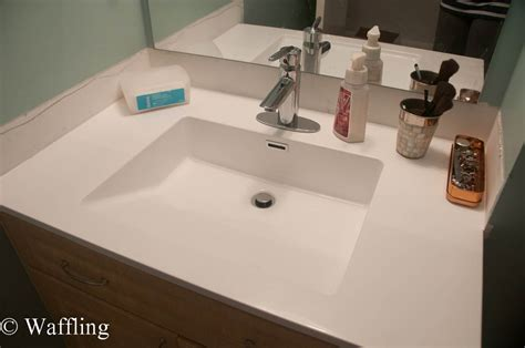 New Bathroom Sink by Waffling Installing A New Bathroom Countertop