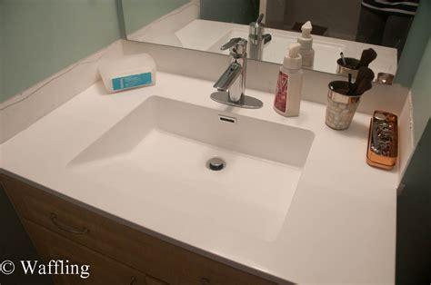 Installing Bathroom Sink by Waffling Installing A New Bathroom Countertop