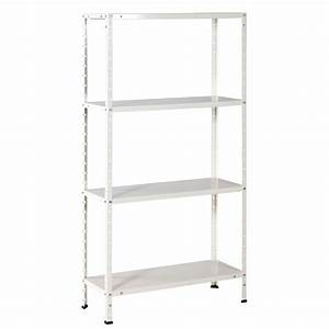 Etagere En Fer Pour Garage : tag re m tallique avasco solid 50 blanc 4 tablettes h ~ Edinachiropracticcenter.com Idées de Décoration