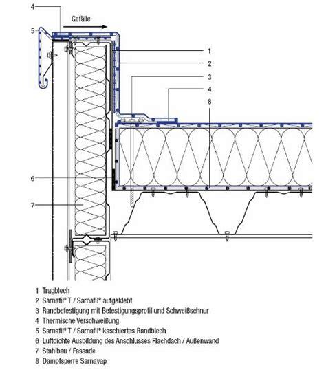 flachdach ohne attika anschluss mauerwerk flachdach mauerwerk dach t