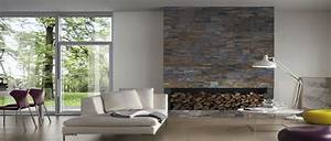 Mur En Pierre Interieur Moderne : relooker le salon avec des plaquettes de parement ~ Melissatoandfro.com Idées de Décoration