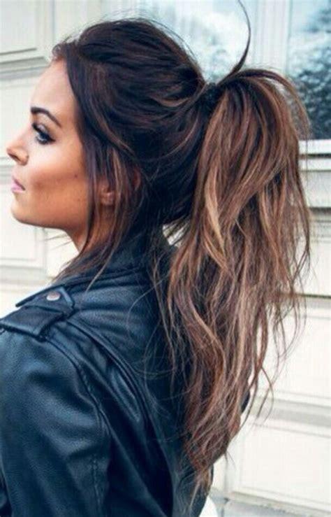 balayage messy ponytail gorgeoushair hair hair styles