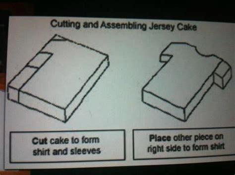Football T Shirt Cake Template by Football Shirt Cake Template Cake Construction