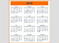 Sri Lanka Yearly holiday Calendar 2019 Free Printable