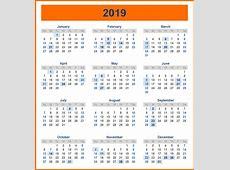 Kuwait Holidays Yearly Calendar 2019 Template Free