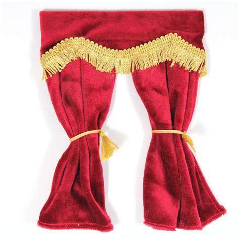red velvet curtains  pelmet  bromley craft