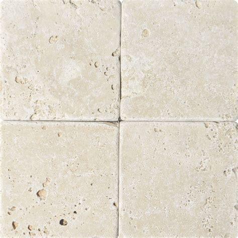 Ivory Tumbled Travertine Tiles 6x6