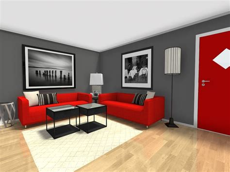 Black And Red Living Room Decorating Ideas red and grey living room walls nakicphotography