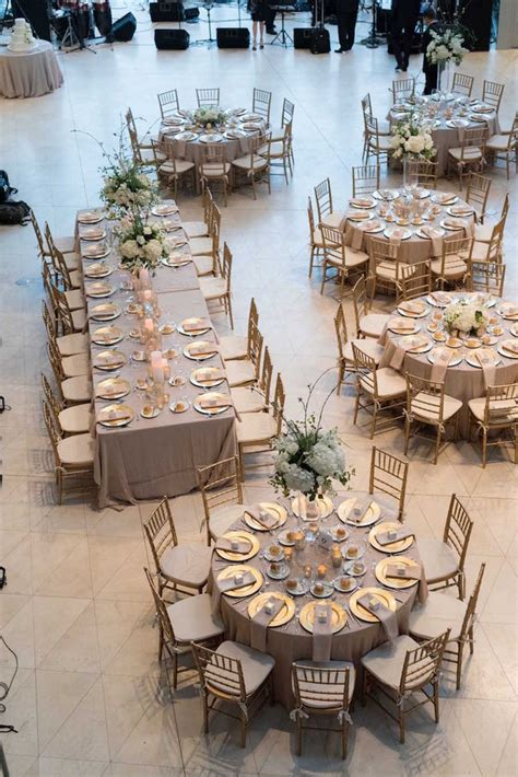 ideas for at wedding reception wedding reception table layout ideas a mix of rectangular and circular tables emmalovesweddings