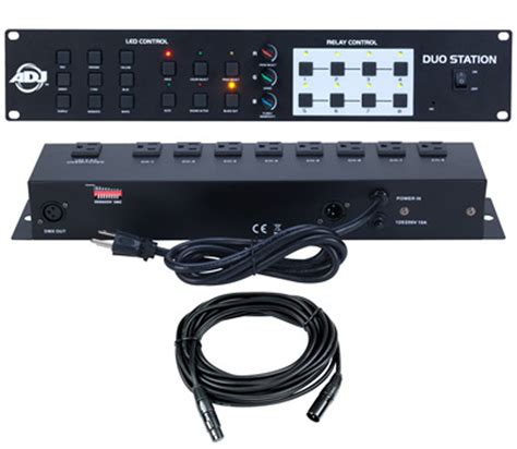 american dj light controller duo station 3ch rgb led control 8ch on off switch