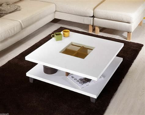 Modern Square Coffee Table Cocktail Contemporary Accent