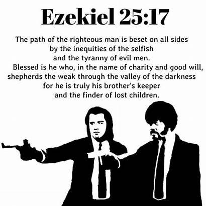 Pulp Fiction Ezekiel Quote Poster Redbubble
