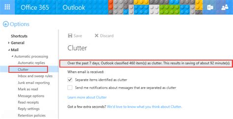 Office 365 Outlook Won T Send Emails by Clutter Options
