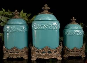 Turquoise Kitchen Canister Set by Discontinued Turquoise Large Ceramic Canister Set