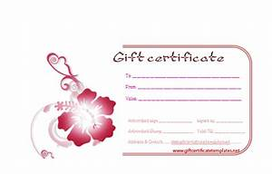 gift certificate templates With free beauty gift voucher template