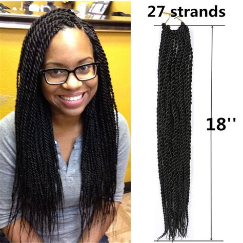 Twist Extensions Hairstyles by 18 Quot Kanekalon Small Senegalese Braid Twist Crochet
