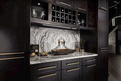 Kitchen Trends Popular Metallic Cabinets Colored
