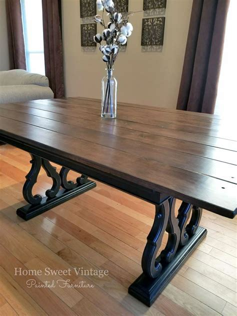 Black Pepper and Antique Walnut Dining Table   General