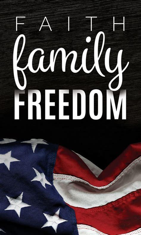faith family freedom banner church banners outreach
