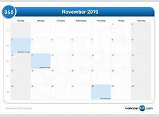 November 2019 Calendar Template calendar month printable