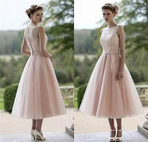 popular tea length pink wedding dresses buy cheap tea With cheap tea length wedding dresses