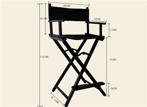 2017 portable aluminum director chair black foldable